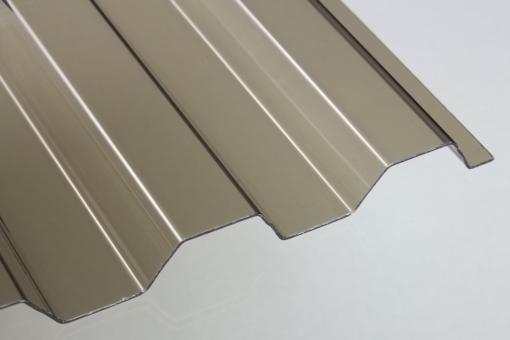 PVC Lichtplatten Trapez 70/18 bronze 1,4mm