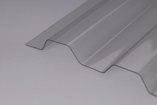 PVC Lichtplatten SOLLUX Trapez 70/18 klar 1,0mm