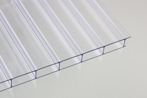 16mm Doppelstegplatten Acrylglas klar