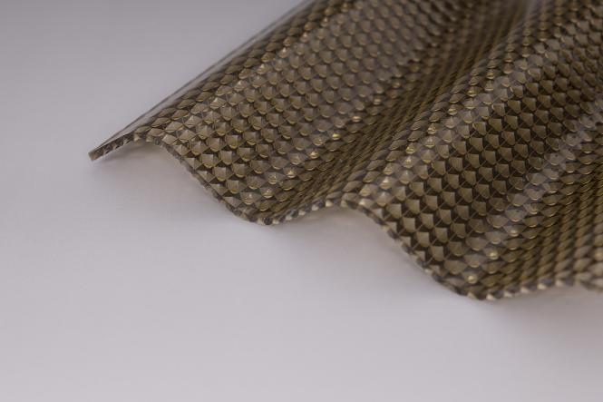 polycarbonat lichtplatten welle 76 18 bronze mit wabenstruktur 2 8mm. Black Bedroom Furniture Sets. Home Design Ideas